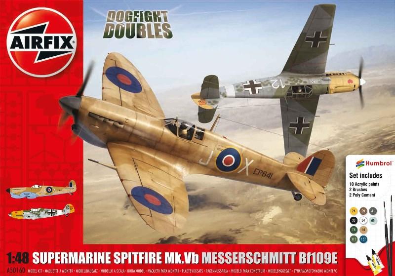 AIRFIX 50160 Supermarine Spitfire Mk.Vb & Messerschmitt Bf 109E (Dogfight Doubles)