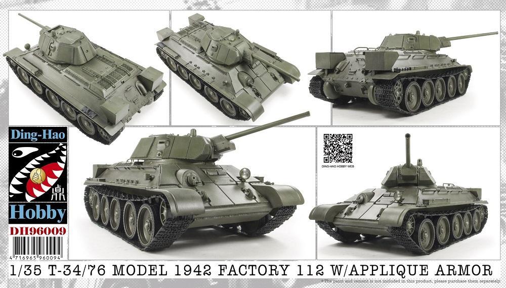 DING-HAO 96009 Soviet T-34/76 Mod.1942 Factory 112