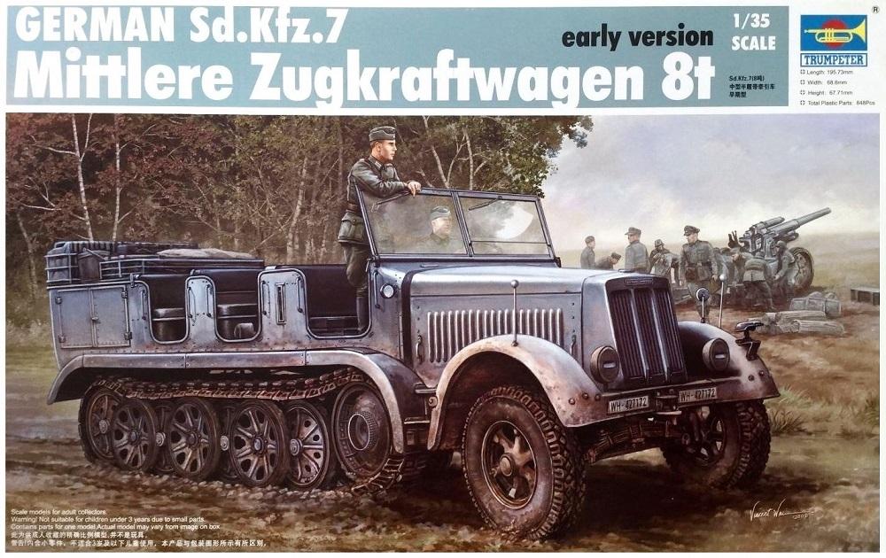 TRUMPETER 01514 German Sd.Kfz.7 Mittlere Zugkraftwagen (Early)
