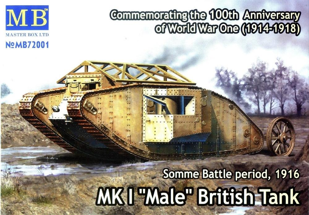 MASTER BOX 72001 British Tank Mk.I 'Male' (Somme, 1916)