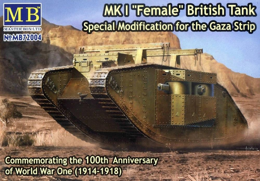 MASTER BOX 72004 British Tank Mk.I 'Female' (Special Modification for Gaza Strip)