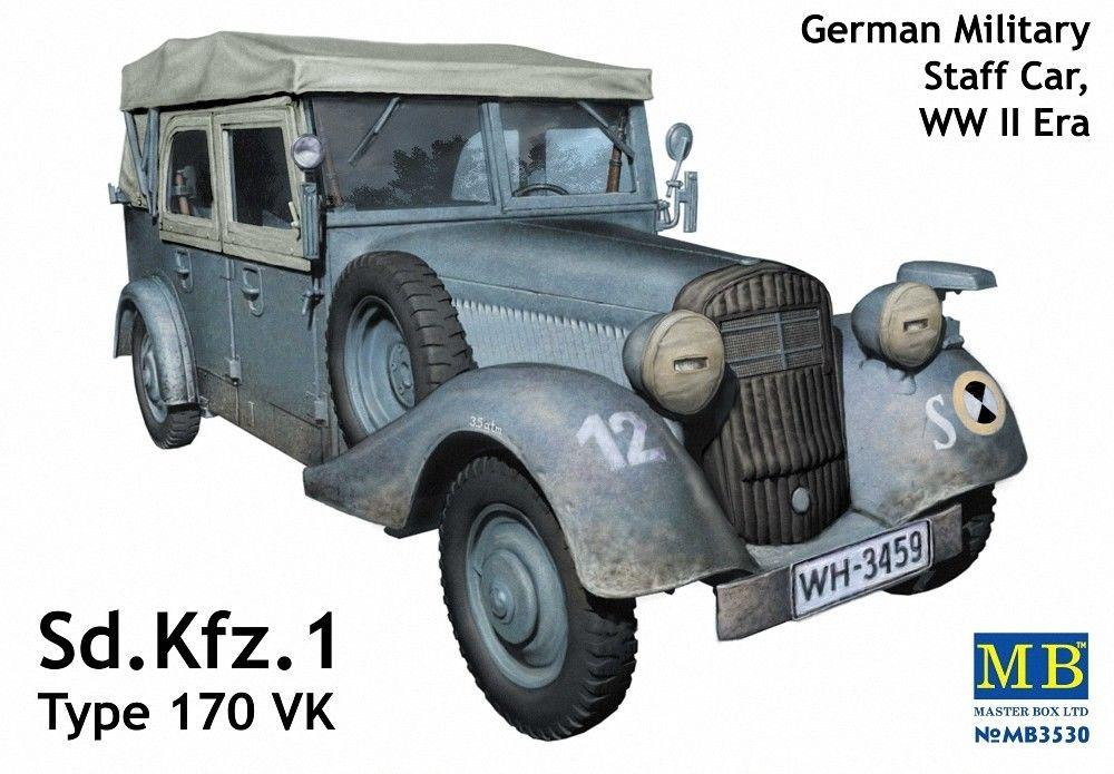 MASTER BOX 3530 German Military Staff Car Sd.Kfz.1 Type 170 VK