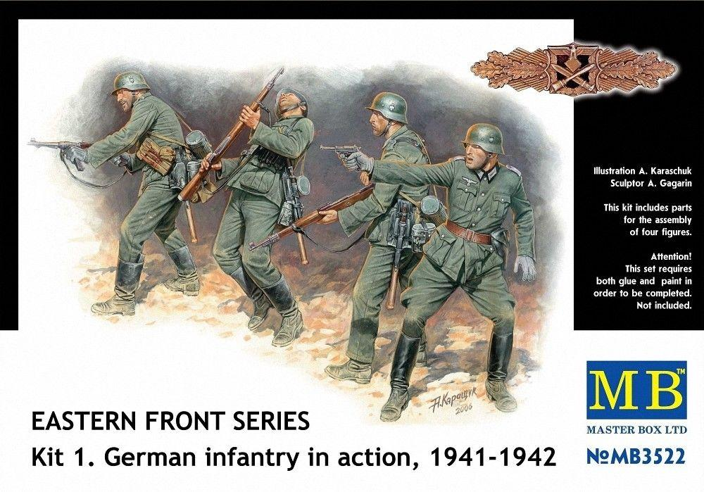 MASTER BOX 3522 German Infantry in Action (Kit 1)