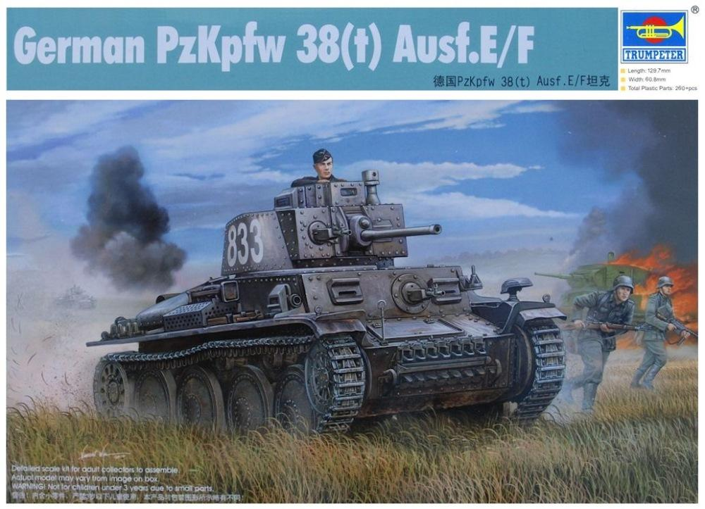 TRUMPETER 01577 German Pz.Kpfw.38(t) Ausf.E/F