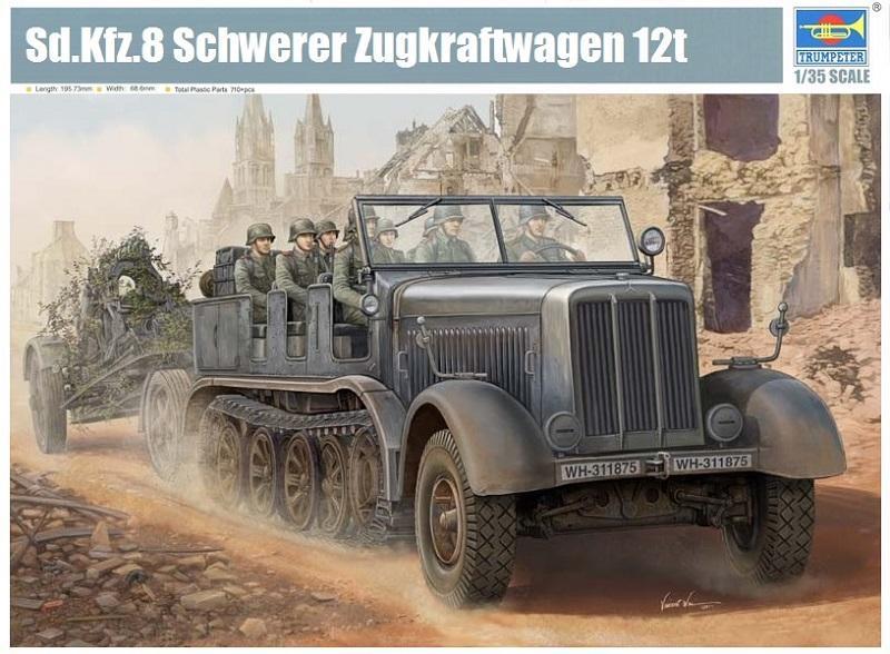 TRUMPETER 01583 German Sd.Kfz.8 Schwerer Zugkraftwagen 12 ton