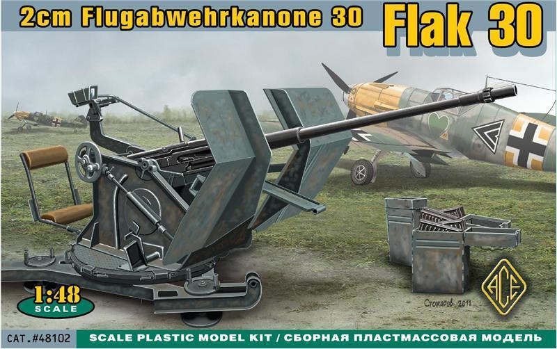 ACE 48102 German 2 cm Flugabwehrkanone 30 (Flak 30)