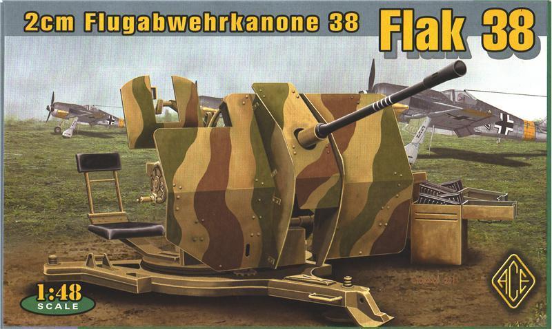 ACE 48103 German 2 cm Flugabwehrkanone 38 (Flak 38)