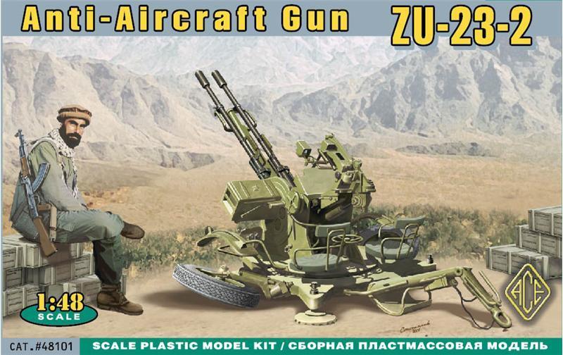 ACE 48101 Russian ZU-23-2 Anti Aircraft Gun