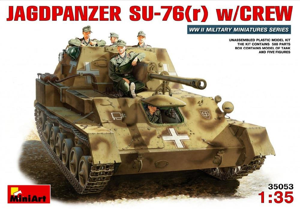 MINIART 35053 Jagdpanzer Su-76(r) (WWII)