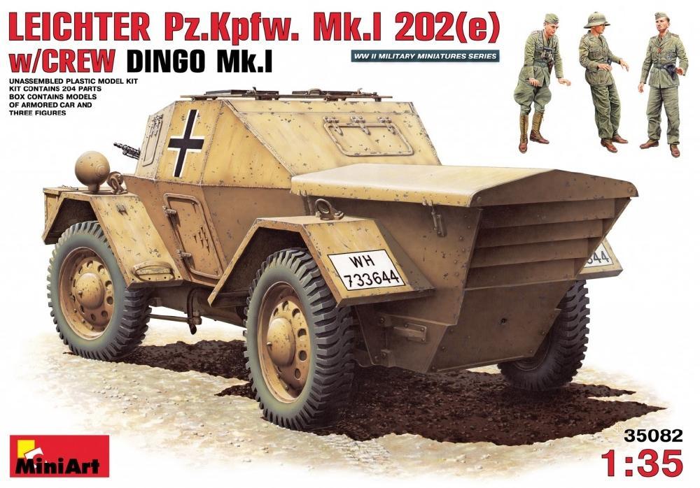 MINIART 35082(*) Leichter Pz.Kpfw.Mk.I 202(e) with Crew (Dingo Mk.I)