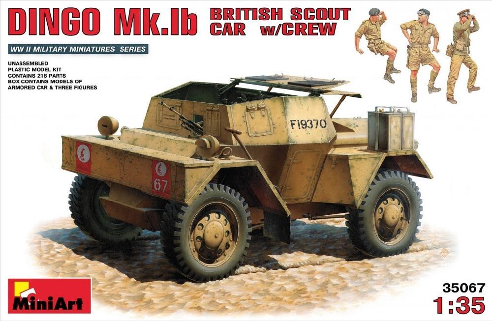 MINIART 35067 British Scout Car Dingo Mk.Ib with Crew (WWII)