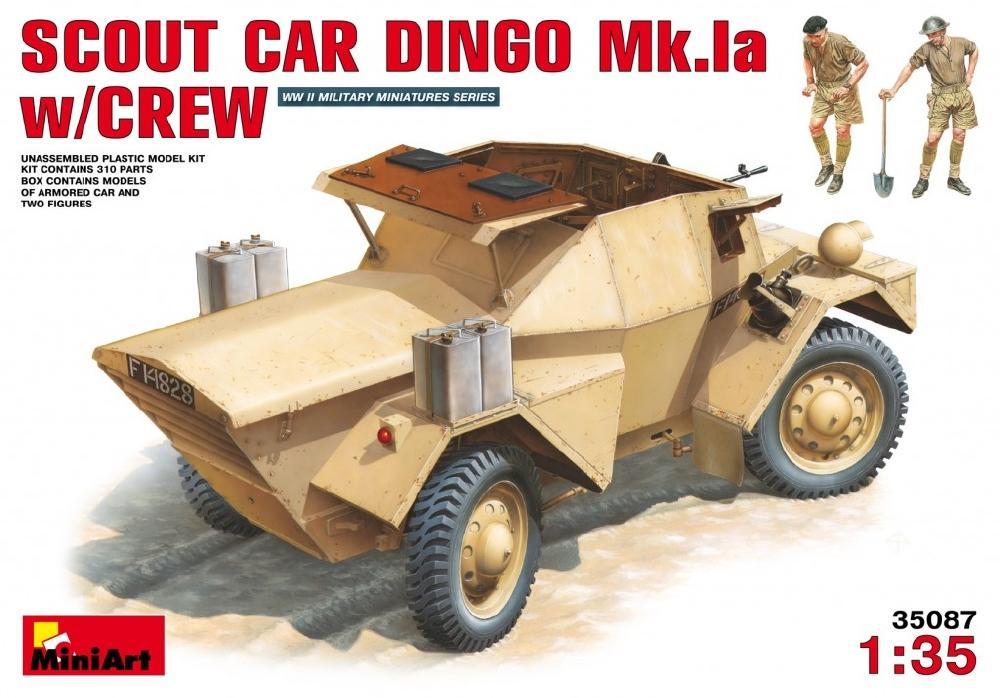 MINIART 35087 British Scout Car Dingo Mk.Ia with Crew (WWII)