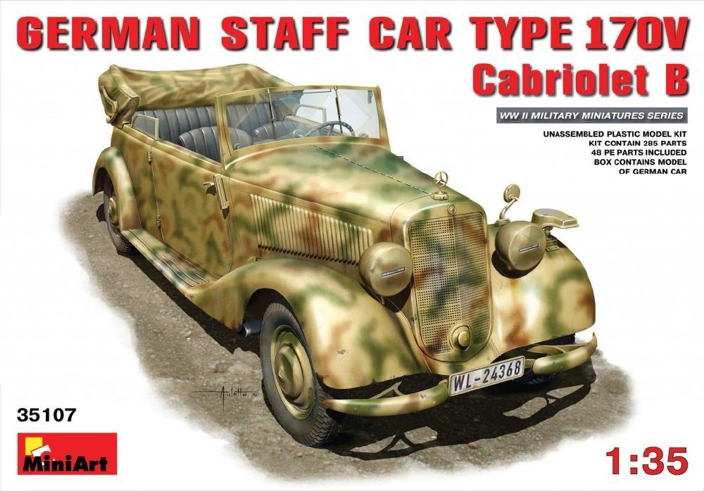 MINIART 35107 German Staff Car Type 170V Cabriolet B