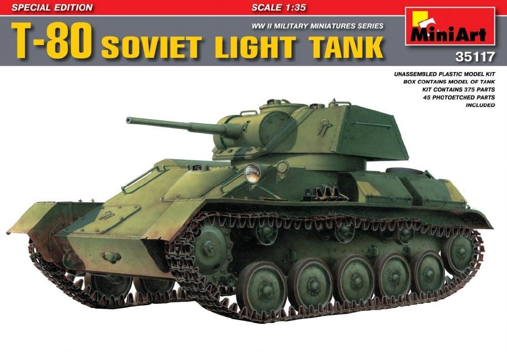 MINIART 35117 Soviet Light Tank T-80 (Special Edition)