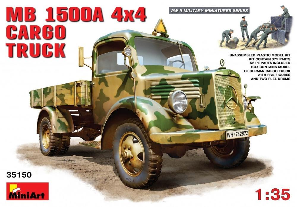 MINIART 35150 Mercedes-Benz L1500A (4x4 Cargo Truck)