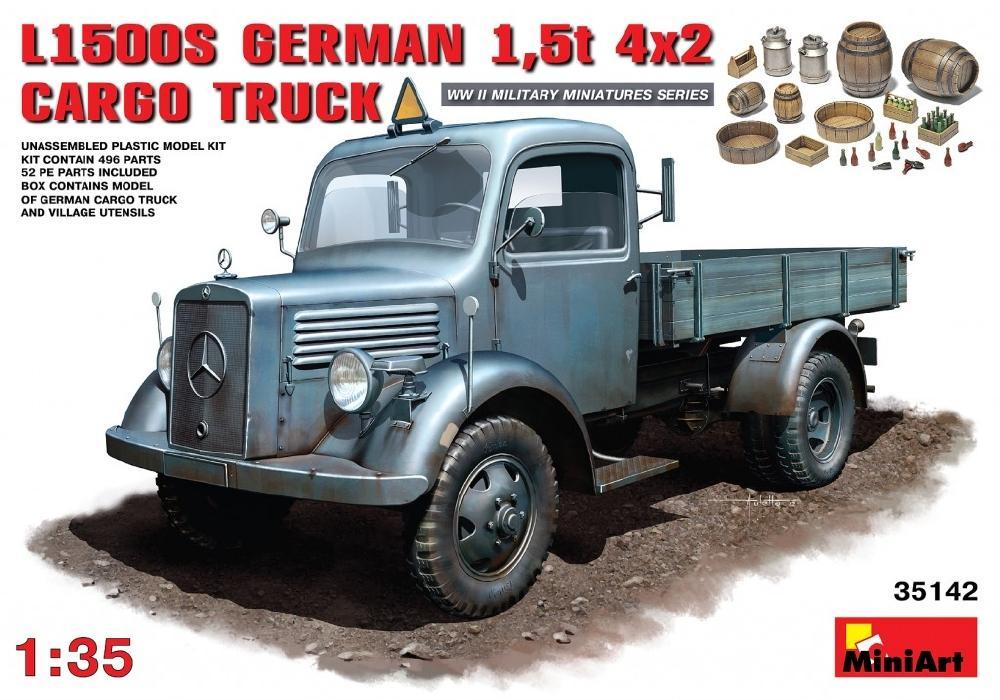 MINIART 35142 German L1500S 1,5t 4x2 Cargo Truck (WWII)