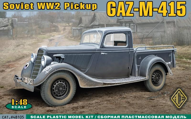ACE 48105 Russian Pick-Up GAZ-M-415 (WWII)