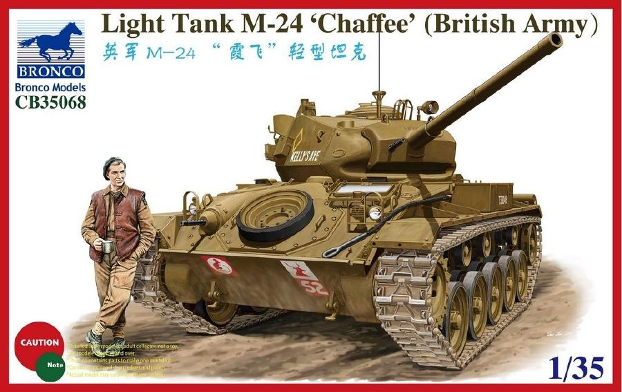 BRONCO MODELS CB35068 Light Tank M-24 Chaffee (British Version)