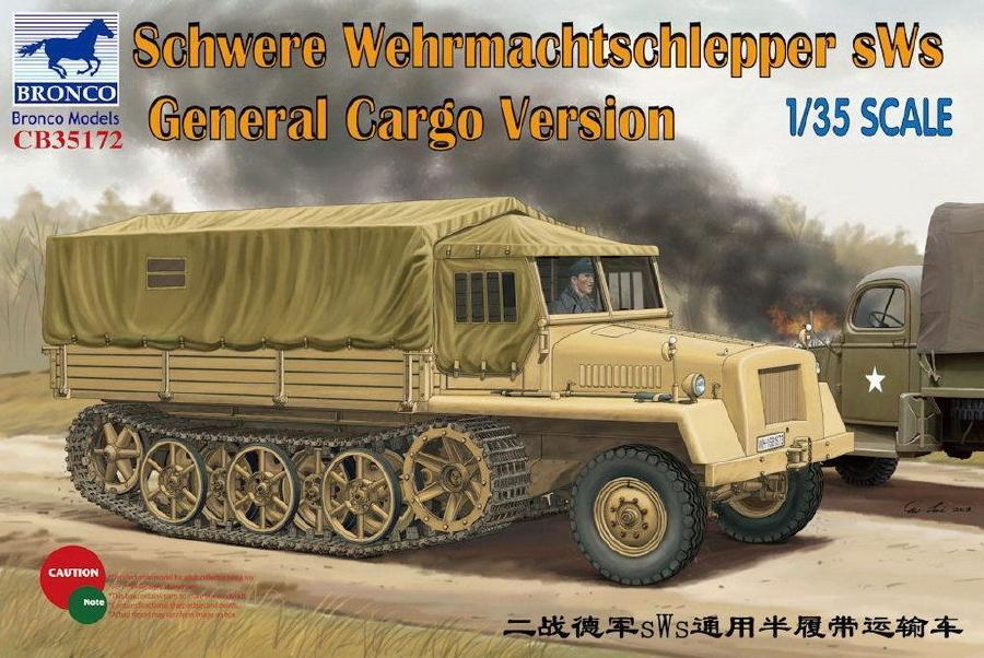 BRONCO MODELS CB35172 Schwere Wehrmachtschlepper sWs General Cargo Version