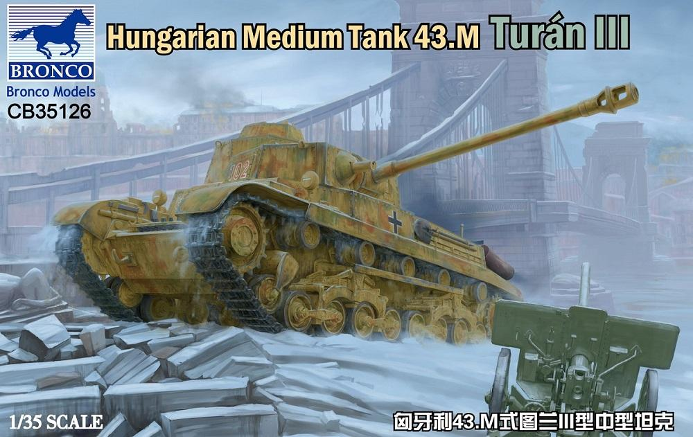 BRONCO MODELS CB35126 Hungarian Medium Tank 43.M 'Turan III'