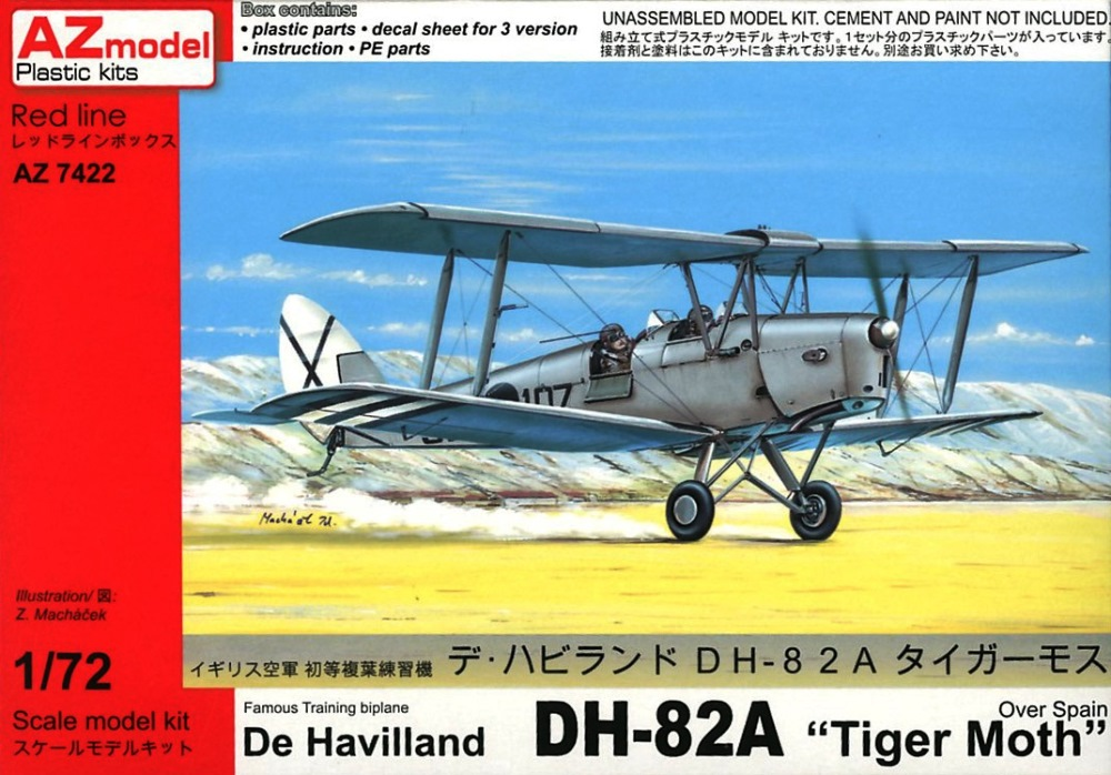 AZ MODEL 7422 de Havilland DH.82 Tiger Moth (over Spain)