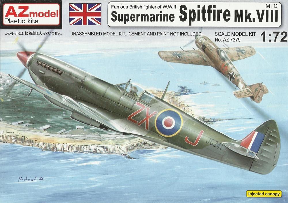 AZ MODEL 7379 Supermarine Spitfire Mk.VIII (R.A.F. & U.S.A.A.F.)
