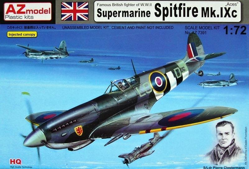 AZ MODEL 7391 Supermarine Spitfire Mk.IXc 'Aces'