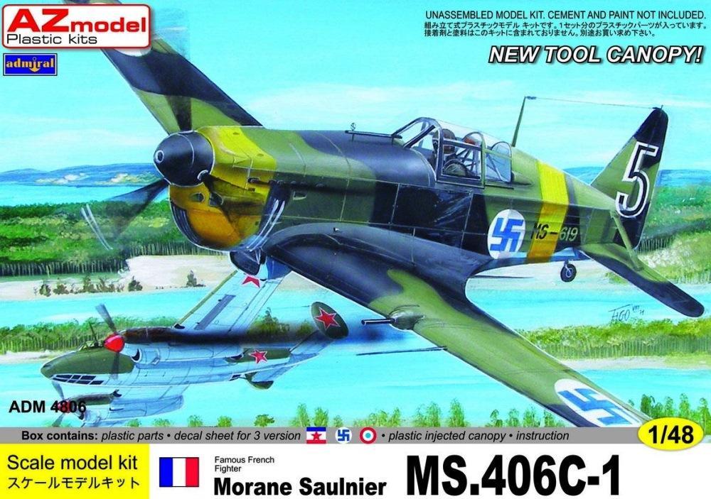 ADMIRAL - AZ MODEL 4806 Morane-Saulnier MS.406C-1 (WWII)