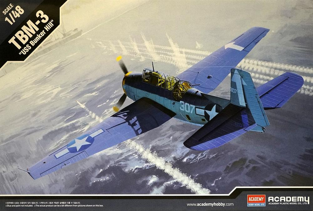 ACADEMY 12285 Grumman TBM-3 'Avenger' (U.S.S. Bunker Hill)