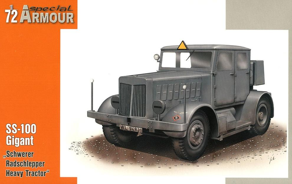 SPECIAL ARMOUR 72001 German SS-100 Gigant Heavy Tractor (WWII)