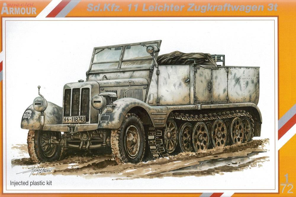 SPECIAL ARMOUR 72002 German Sd.Kfz.11 Leichter Zugkraftwagen 3t