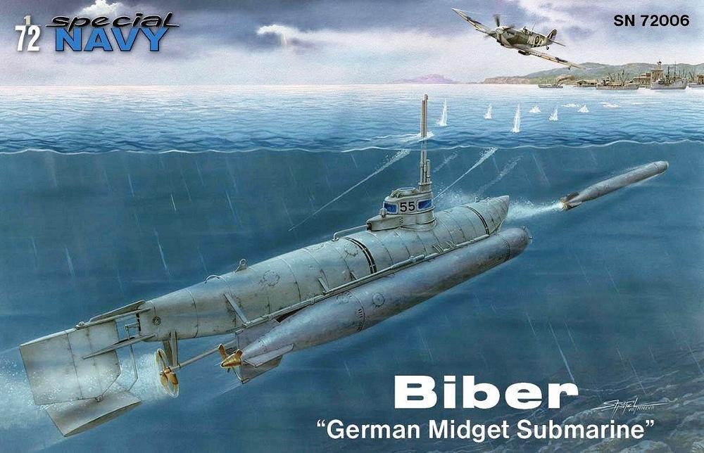 SPECIAL NAVY SN72006 German Midget Submarine Kleinesboot 'Biber' (WWII)