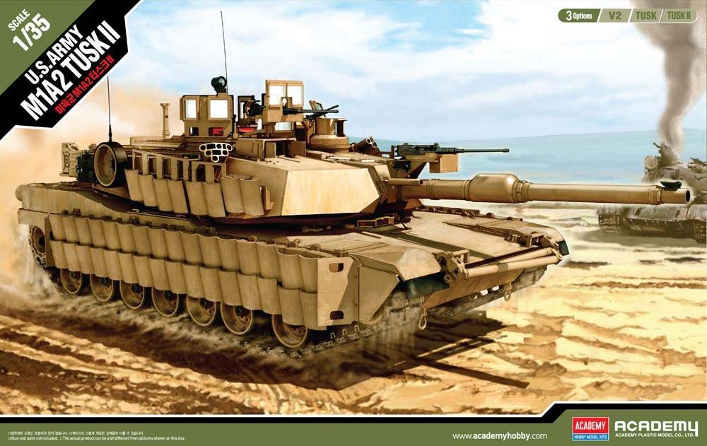 ACADEMY 13298 U.S. Army Tank M1A2 'Tusk II'