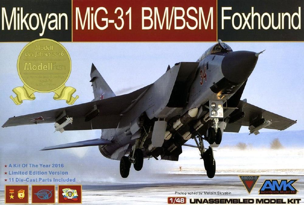 AVANTGARDE MODEL KITS 88003S Mikoyan MiG-31BM/BSM 'Foxhound'