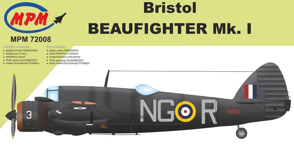 MPM 72008 Bristol Beaufighter Mk.I