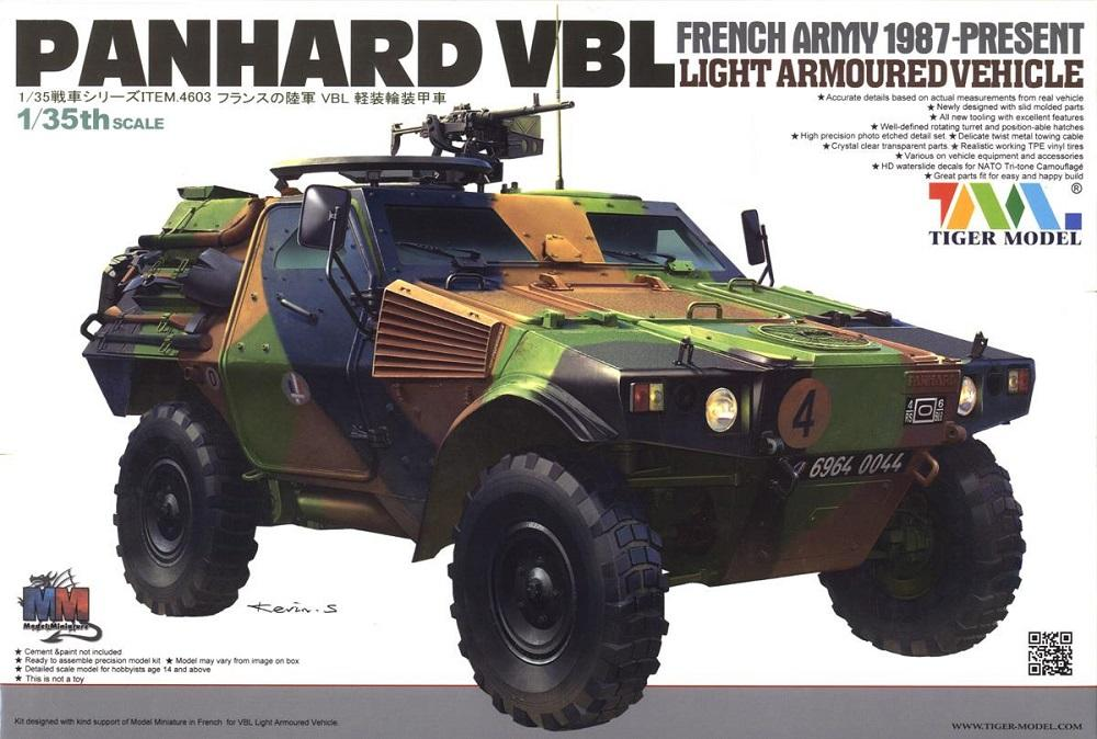 TIGER MODEL 4603 French Light Armoured Vehicle Panhard VBL