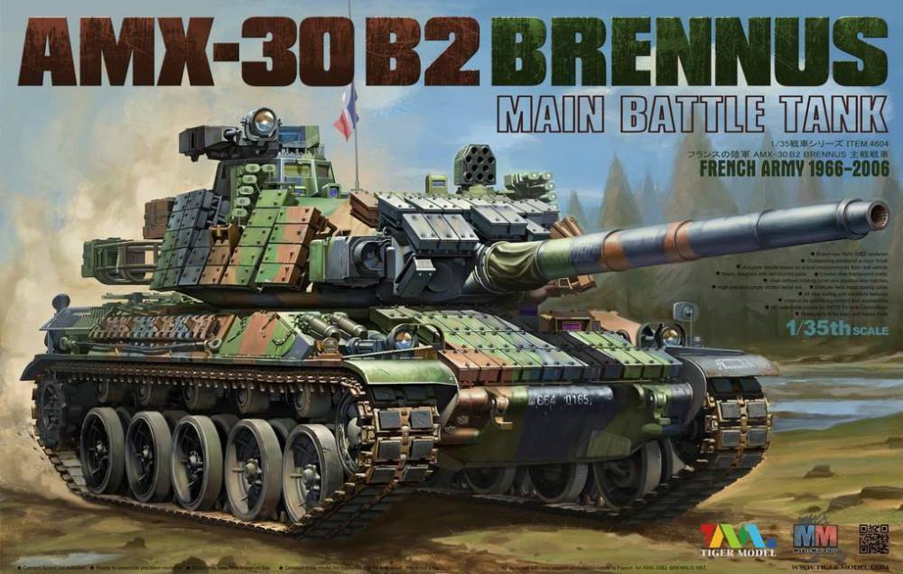 TIGER MODEL 4604 French Main Battle Tank AMX-30 B2 'Brennus'