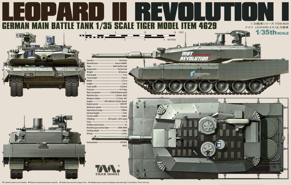 TIGER MODEL 4629 German Main Battle Tank 'Leopard II' (Revolution I)
