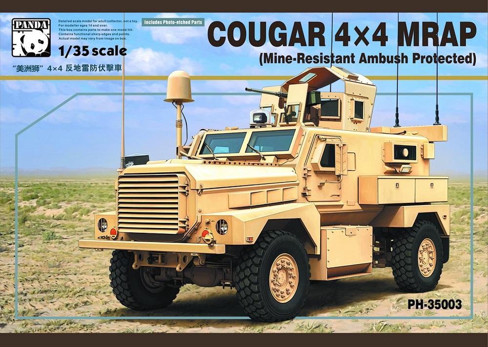 PANDA HOBBY 35003 Cougar 4x4 MRAP (Mine Resistant Ambush Protected)