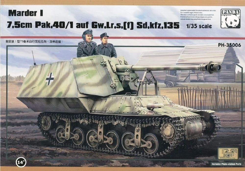 PANDA HOBBY 35006 German Marder I 7,5cm Pak 40/1 auf Gw.Lr.s(f) Sd.Kfz.135
