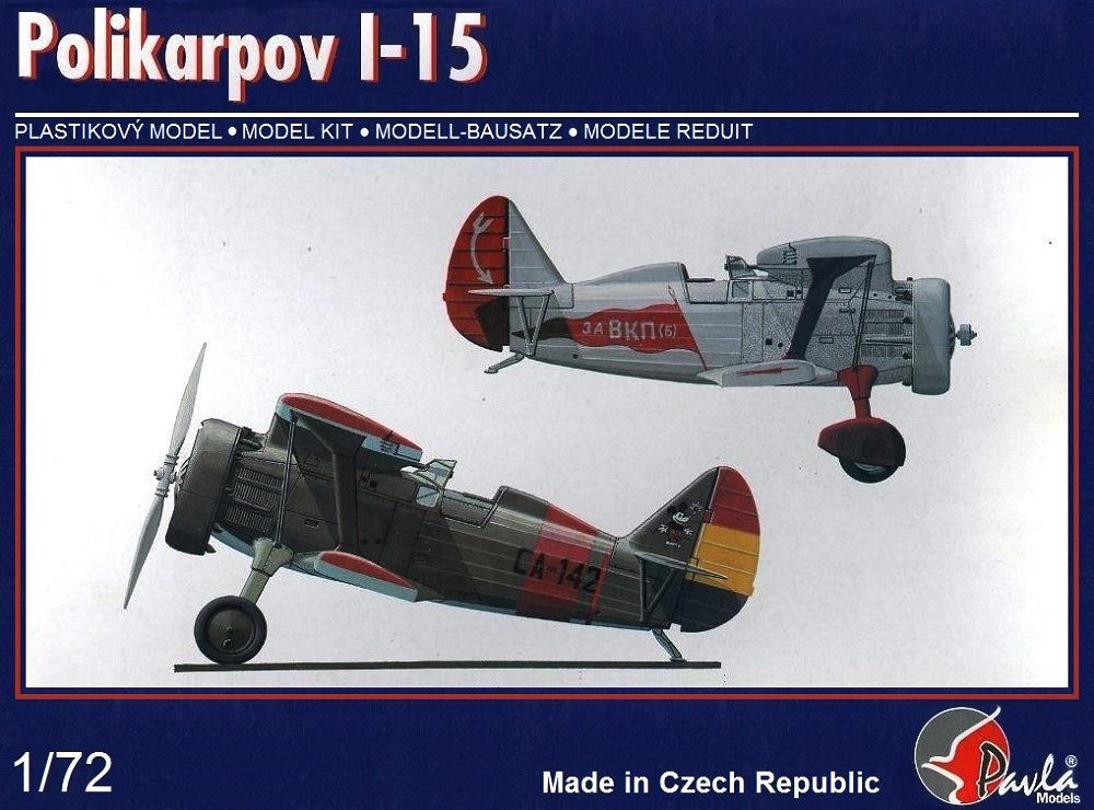 PAVLA MODELS 72047 Polikarpov I-15 'Chato'