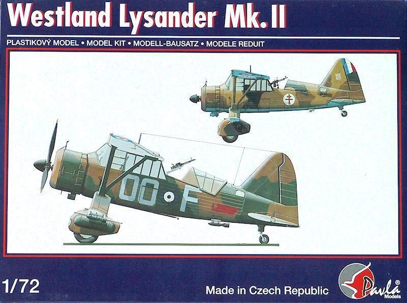 PAVLA MODELS 72048 Westland Lysander Mk.II