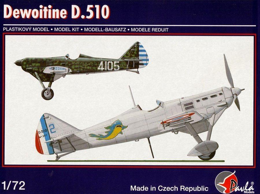 PAVLA MODELS 72065 Dewoitine D.510