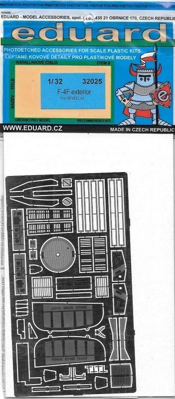 EDUARD 32025 Set for F-4F Phantom II Exterior (Revell)