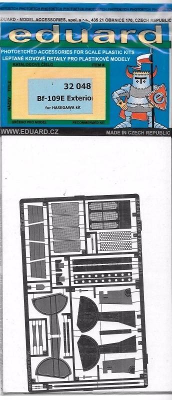 EDUARD 32048 Set for Messerschmitt Bf 109E Exterior (Hasegawa)
