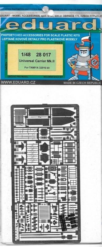 EDUARD 28017 Set for Universal Carrier Mk.II (Tamiya)