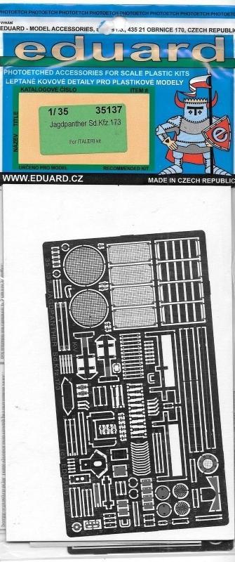 EDUARD 35137 Set for Jagdpanther Sd.Kfz.173 (Italeri)