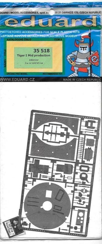 EDUARD 35518 Set for Tiger I Middle Production Interior (Academy)