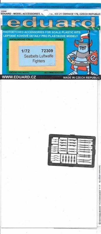 EDUARD 72309 Seatbelts Luftwaffe Fighters (WWII)