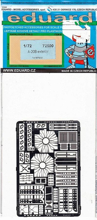 EDUARD 72500 Set for A-20B Exterior (MPM)